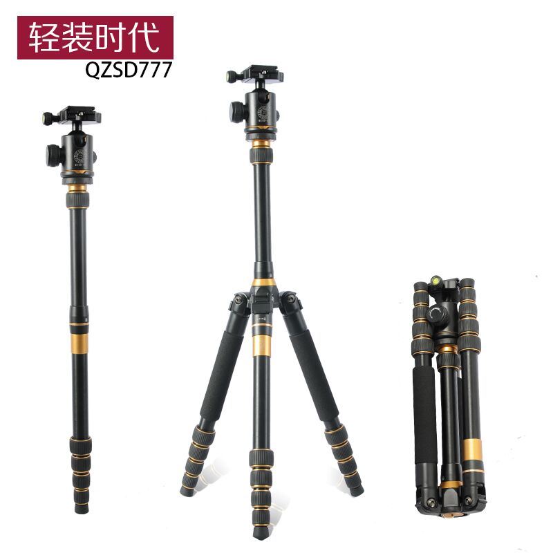 2018 QZSD Q777 Professional project tripod stand aluminum digital camera tripod & monopod for travel compact video camera stand free shipping matton t 254 bm 10 professional photographic travel compact aluminum tripod for digital video mirrorless camera