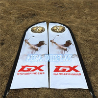 5.6M beach flag high quality cheap advertising custom double sides feather beach flag free shipping