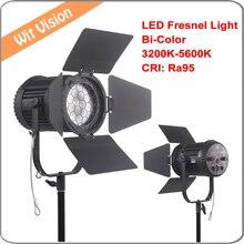 Nanguang CN-100FC Bi-Color 100 W LED Fresnel Luz DMX512 RA95 Focalizável e Regulável 3200 K-5600 K DIODO EMISSOR de LUZ Spotlight + Saco de Luz