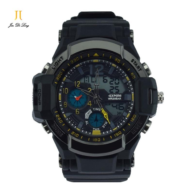 Fashion Sport Super Cool Men's Analog Digital Watch Men Sports Watches Luxury Brand LED Military Waterproof Wristwatches