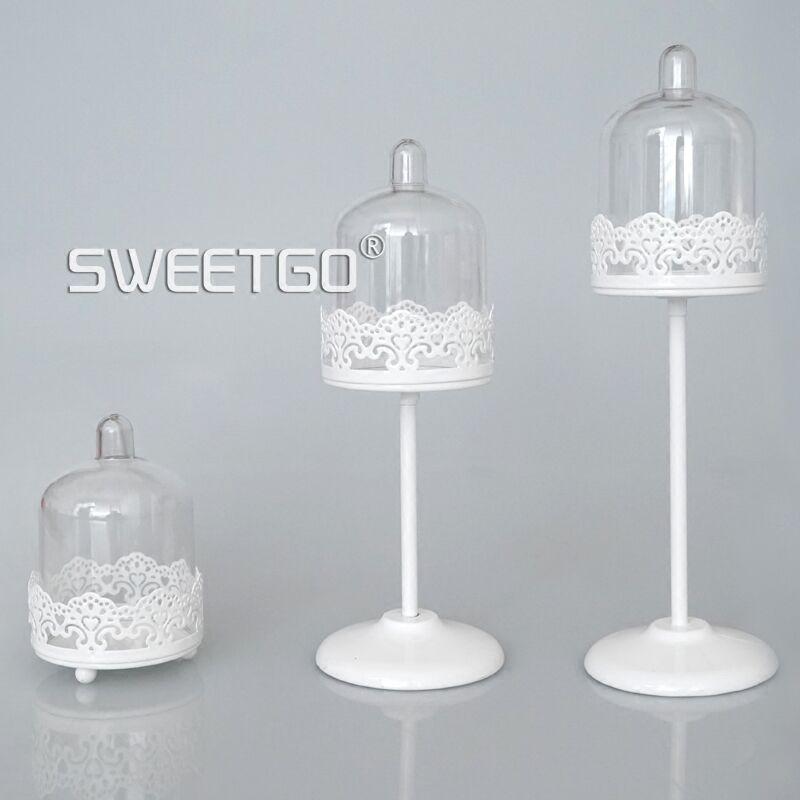 SWEETGO Mini Cupcake, tort ev partiyası bəzək üçün ağ şam - Mətbəx, yemək otağı və barı - Fotoqrafiya 4
