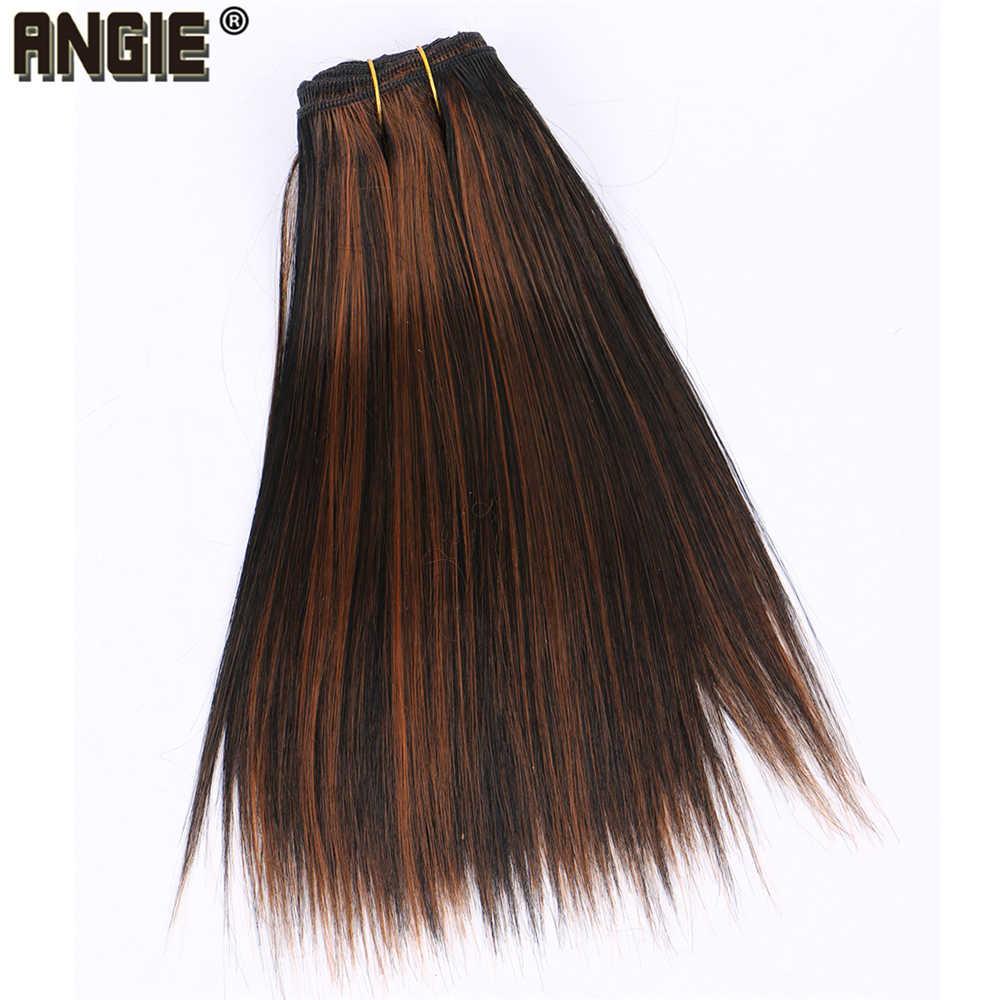 Korte Zijdeachtige Rechte Haar Bundels Kleur P1/30 Synthetische Hair Extensions 100 gram Een Stuk Weave Product