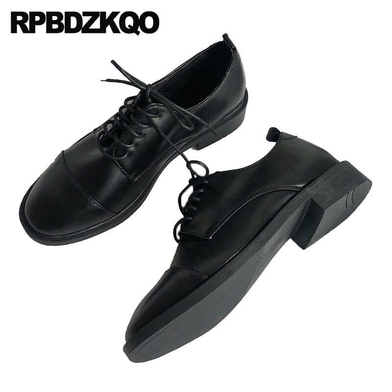 ebf195430 Lace up tamanho 35 japonês china direto da fábrica de couro envernizado  designer dedo do pé redondo retro chinês das mulheres do vintage sapatos  oxfords ...