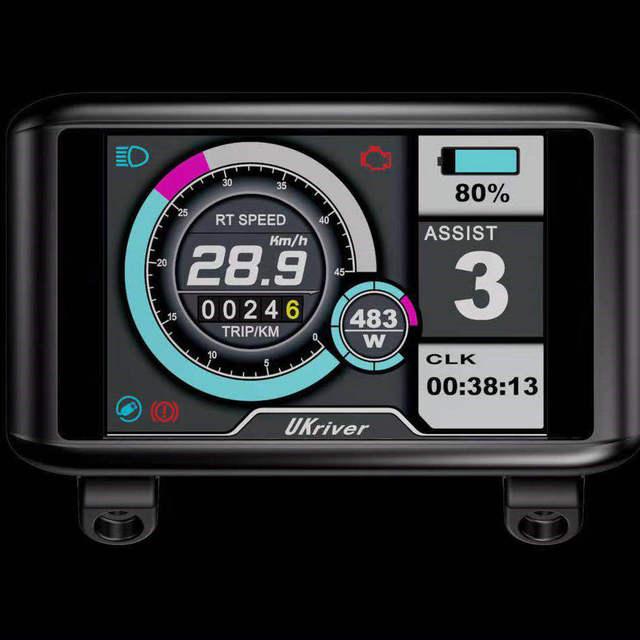 الملونة TFT شاشة الكريستال السائل 24v36v48v52v60v72v 3.5 بوصة IPS شاشة عمودي/أفقي نوع الأوسط + تحكم دراجة كهربائية أجزاء