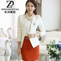 2017 Spring Office Blazer Jackets For Women Work Outerwear V-Neck Slim Women Blazers And Jackets Plus Size White Black femme
