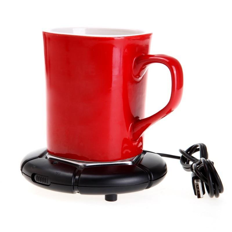 <font><b>Portable</b></font> <font><b>USB</b></font> <font><b>Powered</b></font> <font><b>Cup</b></font> <font><b>Mug</b></font> <font><b>Warmer</b></font> <font><b>Coffee</b></font> <font><b>Tea</b></font> Drink Heater Tray Pad (Black)