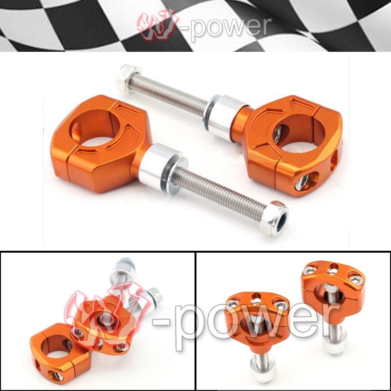ФОТО fite For KTM EXC 125-530cc 690 950 990 motorcycle handlebar support handlebar clamp Riser mounting 28mm CNC aluminum orange