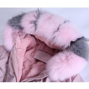 Image 5 - Winter Jacket Women Brand 2020 Long Parka Natural Raccoon Fox Fur Collar Hooded Real Fur Coat Female Warm Snow Coats