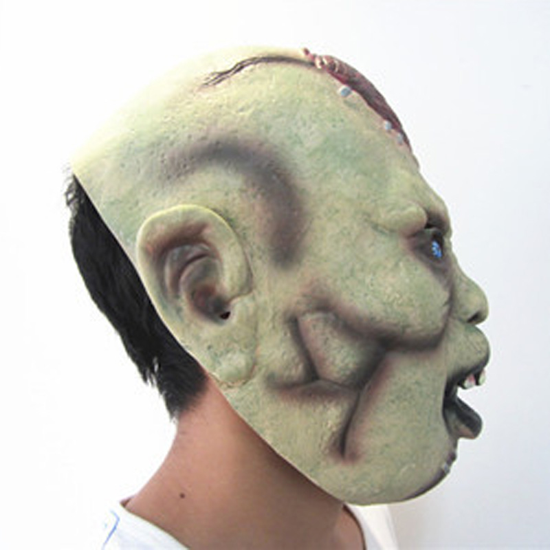 horror grimace scar men mask for adult green face blood hole blue eye latex masks halloween party gifts mx002 in party masks from home garden on