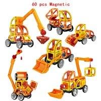60Pcs Set Magnetic Designer Building Blocks Models 3D DIY Plastic Creative Bricks Learning Educational Toy Best