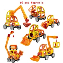 60Pcs/Set Magnetic Designer Building Blocks Models 3D DIY Plastic Creative Bricks Learning Educational Toy Best Gift 78pcs magnetic building blocks toys diy models magnetic designer learning educational plastic bricks children toys for kids gift