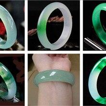 54 мм-64 мм, высококачественный натуральный браслет с нефритом, драгоценный камень, нефритовый браслет, ювелирные изделия для женщин, подарки, Прямая поставка