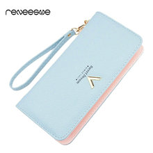 New Luxury Ladies Purses Female Brand Wallets Women Long Zipper Purse Woman Wallet Leather Card Holder Clutch Portefeuille femme