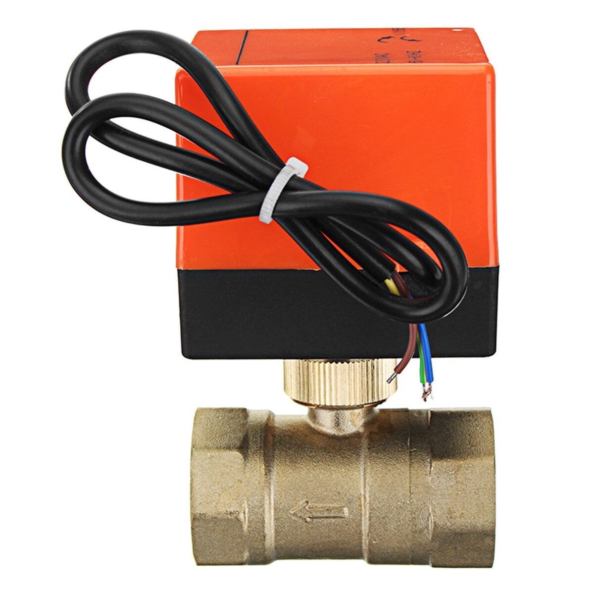 TMOK TK260 1/2 3/4 1 1 1/4 Motorized Electric Brass Ball Valves 3 Wire AC 220V Full Port Valve