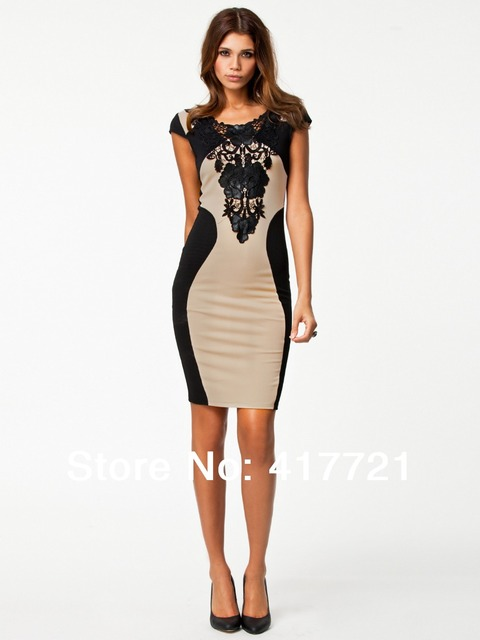 ML17943 Fashion Short Sleeve Design New Women Party Dresses Cheap ...