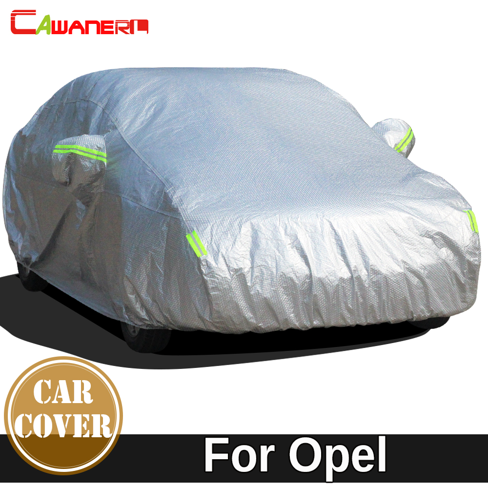 Cawanerl Full Car Cover Thicken Cotton Sun Snow Rain Hail Protection Waterproof Auto Cover For Opel Insignia A B Concept Astra FCawanerl Full Car Cover Thicken Cotton Sun Snow Rain Hail Protection Waterproof Auto Cover For Opel Insignia A B Concept Astra F
