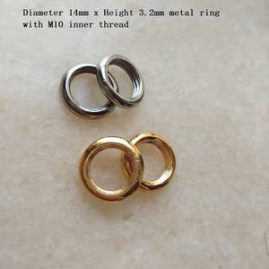 Ring-Nut-Lighting-Accessories Metal with M10--1.0pitch FILTER-TUBE Plating Tooth DIY