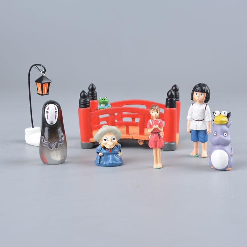 2pcs Studio Ghibli Spirited Away No Face Man Chihiro Figures Faceless Toy Gift