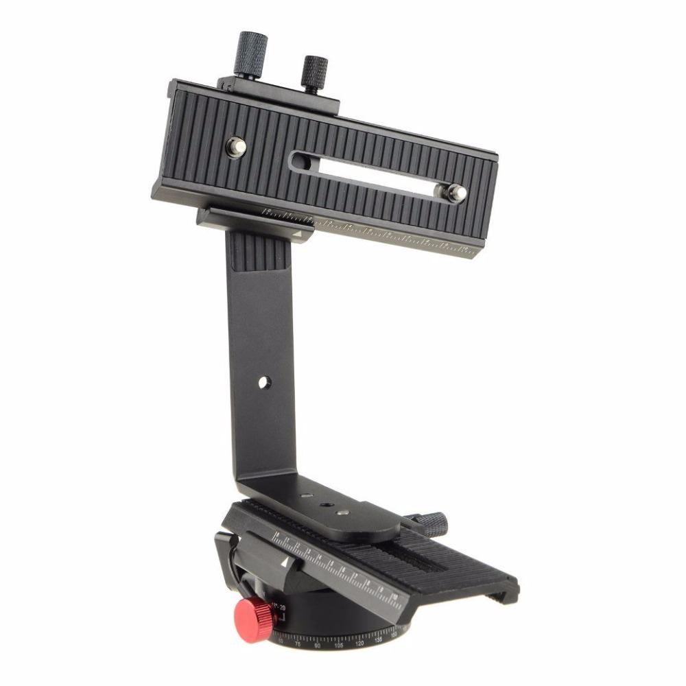 DSLRKIT 360 Degree Swivel Panoramic Indexing Rotator+ 2 Way Rail Slider+ L Bracket Kit
