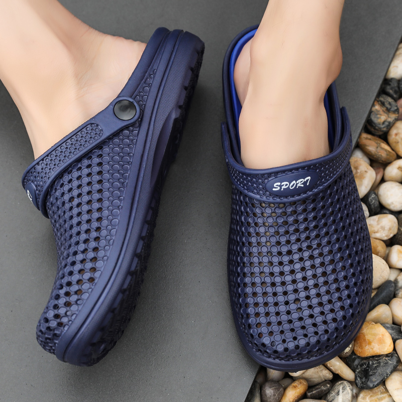 ARUONET Summer Men Sandals New Breathable Beach Men Shoes Clogs Casual Clog Shoes Flip Flops Wholesale Sandalia Masculino Adulto