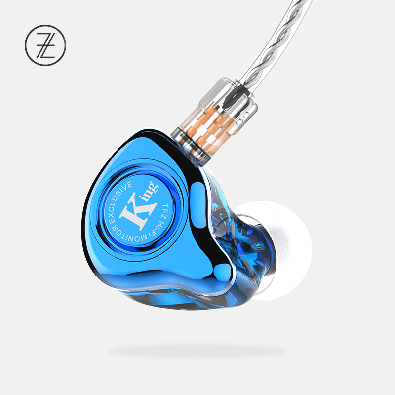 The Fragrant Zither TFZ EXCLUSIVE KING 2Pin Interface HIFI Monitor In Ear Sports Earphone Customized Dynamic DJ Earphone the fragrant zither king pro neckband hifi monitor earphones tfz in ear sports hifi earbuds bass earphones metal earphone