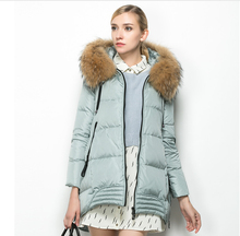 Winter New Fashion Women Coat Hooded Pure color Thick Warm Duck down Down jacket Leisure Cloak Big yards Fur collar Coat G2306