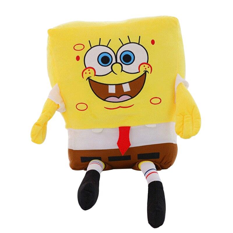 1pc 50cm Cute Sponge Bob Baby Toy Spongebob Plush Toy Soft Anime Cosplay Doll for Kids Baby Toys Cartoon Figure Cushion Pillow цена и фото