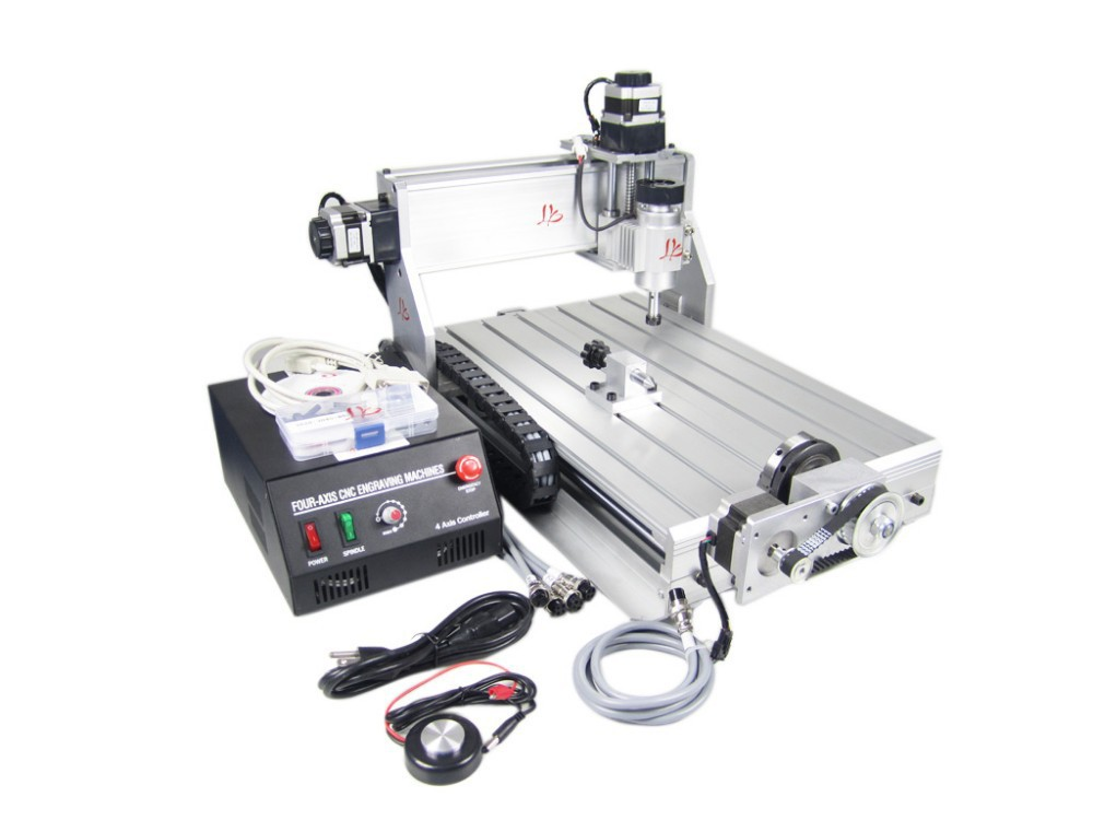 EU No tax! CNC 3040 Z-DQ CNC Router, 4 Axis 3D Engraving Machine For PCB/Wood high quality 3040 cnc router engraver engraving machine frame no tax to eu