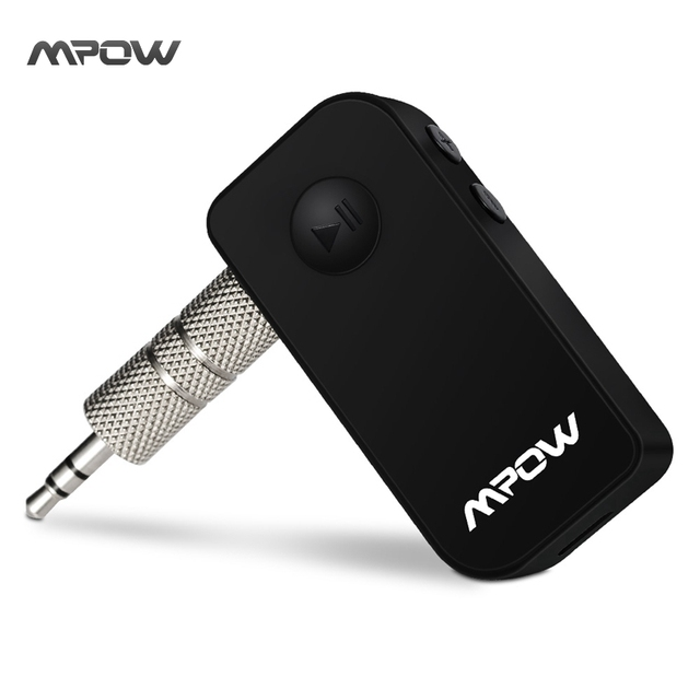Mpow wireless bluetooth receiver Black Portable 3.5 mm Stereo Output Bluetooth 4.1 Audio Streaming hands-free Receiver Adapter