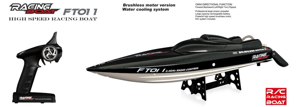 50 KM/H FT011 RC bateau 2.4G haute vitesse moteur Brushless intégré système de refroidissement par eau télécommande course hors-bord jouet cadeau