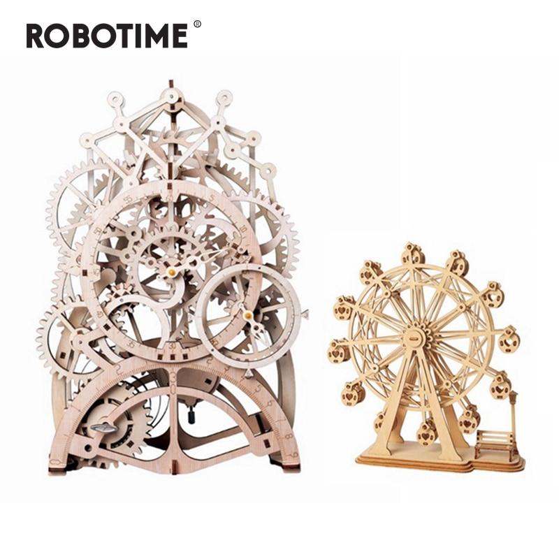 Robotime Nice Deal créatif 2 bricolage modèles en bois Kits de construction assemblage jouet cadeau pour enfants adolescents adultes LKTG