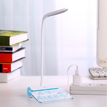 ZINUO USB Desk Lamps Eye Protection LED Table Lamp Rechargeable Touch Switch Dimmable 3 Modes Reading Light With Message Board недорого
