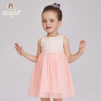 Girls Dress With Long Sleeves Little Girl Woven Oxford Dress 2017 Spring New Arrival Girls Clothing