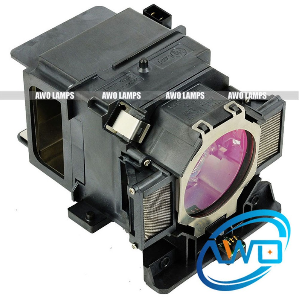 AWO High Quality Projector Replacement Lamp ELPLP72/V13H010L72 with Housing for EPSON PowerLite Pro Z8150NL/Z8250NL/Z8255NL awo compatibel projector lamp vt75lp with housing for nec projectors lt280 lt380 vt470 vt670 vt676 lt375 vt675
