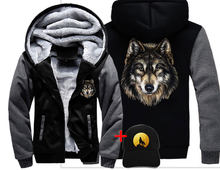 Veste loup WOLF TRAUM Männer frauen Warm Dicken Mantel Jacke winter warm wild wolf super cool Straße samt Sweatshirt top hoodies(China)