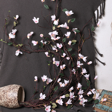 Xuanxiaotong Lilac Artificial Flowers Vine Magnolia Rosa Flower Rattan for Spring Wedding Arch Decorations Hanging Wall Garland
