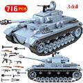 Technik militaire briques ensembles compatibles WW2 allemand réservoir armée ville soldat Police arme blocs de construction jouets pour garçons|Blocs| |  -