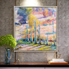 Claude Monet oil painting on canvas Landscape painting flower painting Wall art Pictures for Living room home decor Hand painted стоимость