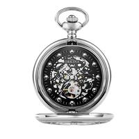 Luxury Carved Hollow Skeleton Mechanical Pocket Watch Vintage Waterproof Watch Chain Pendant Clock Men Women Gifts