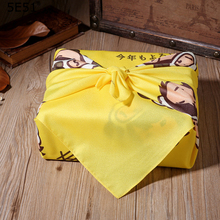Japanese style furoshiki polyester 100% /handkerchief dustcover cartoon printed 70cm/Many Uses