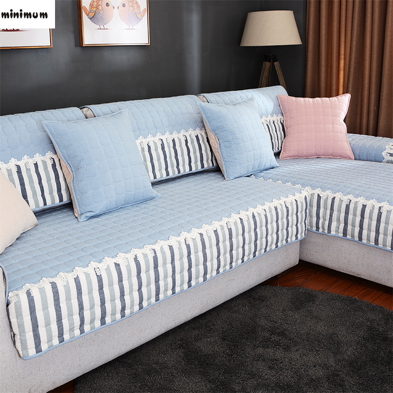summer Cotton sofa cover Non-slip Four seasons common Simple Modern living room Sofa tow ...