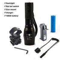 LED 6000 Lumens CREE XM L2 Tactical Flashlight Aluminum Hunting Camping Flash Light Torch Lamp 18650