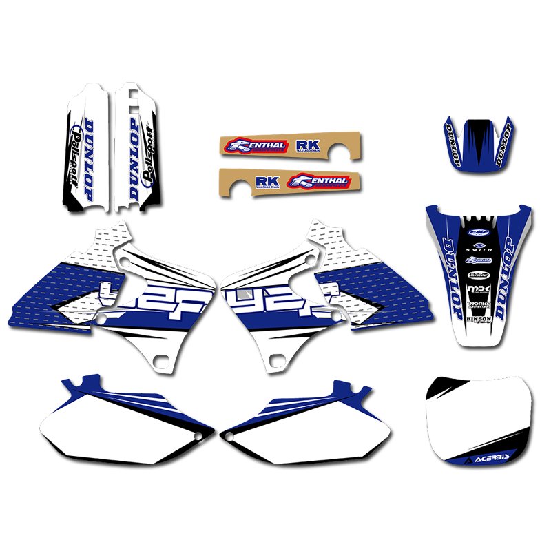 GRAPHICS BACKGROUNDS DECALS STICKERS Kits For Yamaha 4 STROKES YZ250F YZ400F YZ426F 1999 2000 2001 2002 YZ 250 400 426 F
