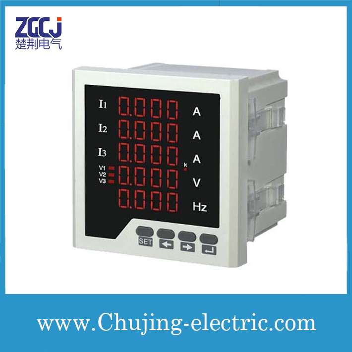 US $57 21 |RS485 communication 3 phase digital Ampere,Voltage,Frequency  meter ,LED display 3 phase A,V,Hz monitor, multifunction monitor-in Current