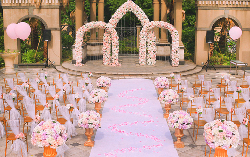 JAROWN Artificial 2M Rose Flower Row Wedding DIY Arched Door Decor Flores Silk Peony Road Cited Fake Flowers Home Party Decoration Maison (3)