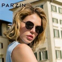 PARZIN Brand Top Grade Women Cat Eye Sunglasses Big Alloy Frame Polarized Sun Glasses Designer For Driver Accessories