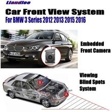 Liandlee Car Front View Camera Logo Camera For BMW 3 E90 E91 E92 E93 F30 F31 F34 2012-2016 LCD Screen Monitor Cigarette Lighter for bmw e90 e92 e93 f20 f21 f30 f31 f32 f33 f34 f15 f10 f01 f11 f02 g30 m performance side skirt sill stripe body decals sticker