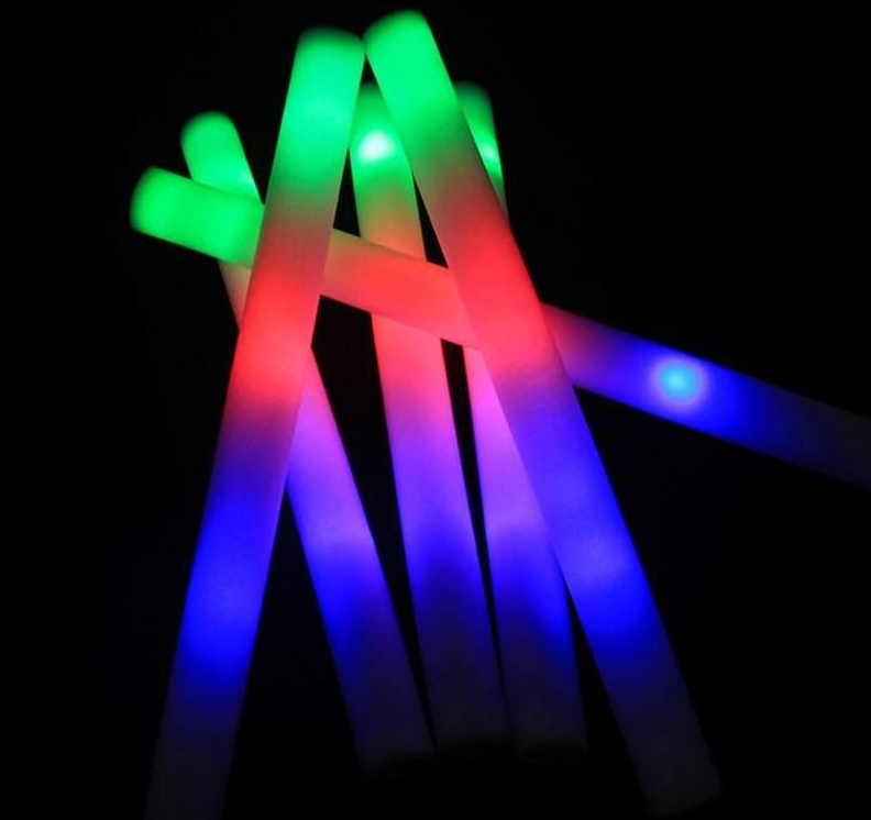 Palo de espuma brillante LED varillas intermitentes de colores varillas de luz fiesta Festival decoración concierto Prop