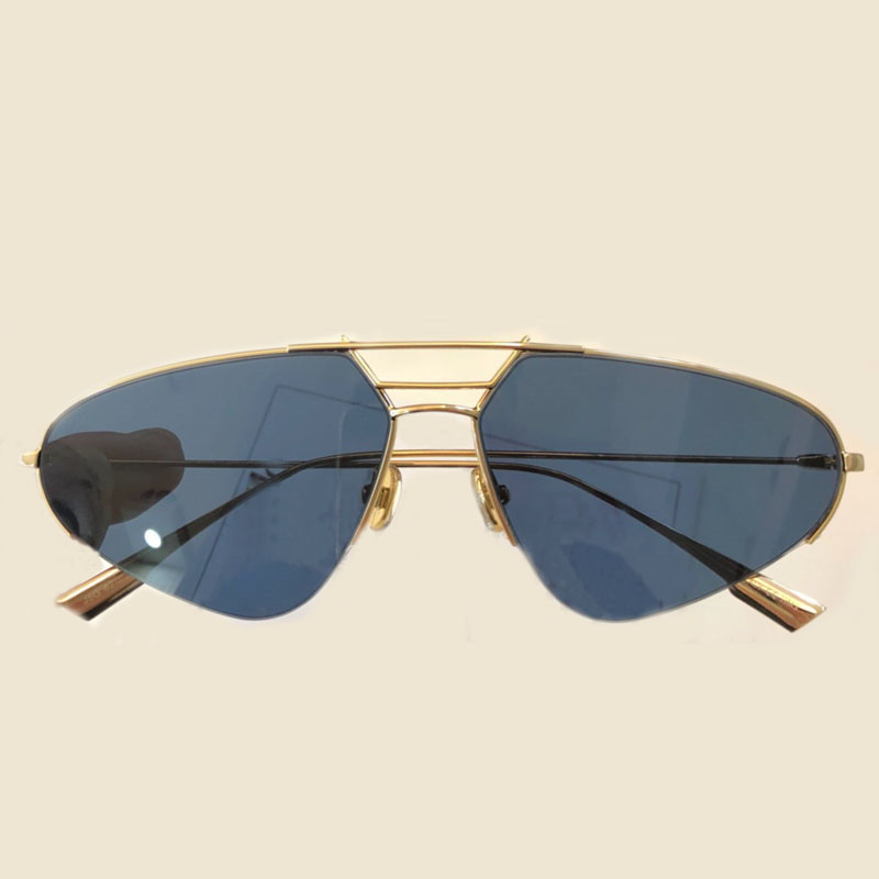 High Quality Metal Frame Semi Rimless Sunglasses for Women Mens Luxury Brand Designer Oval Sunglasses Oculos