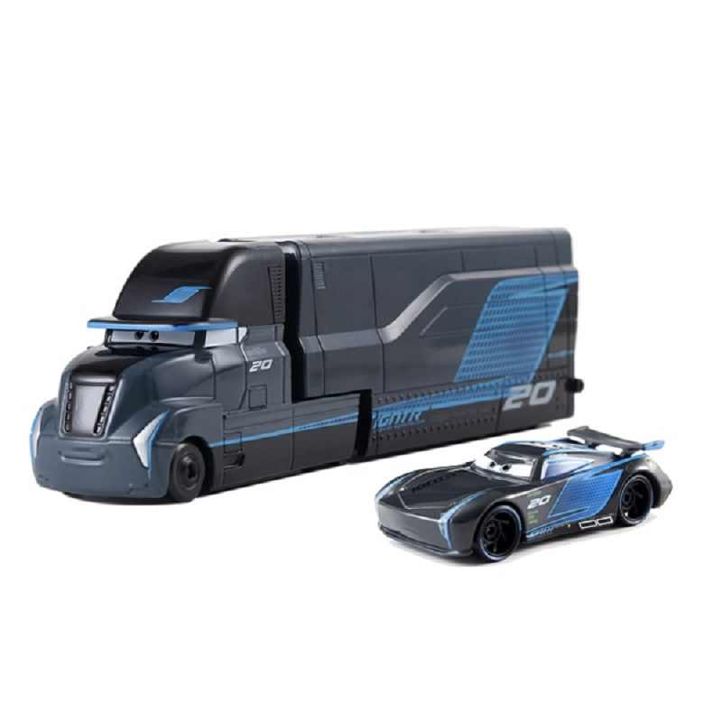 Disney Pixar Cars 3 Jackson Storm Mack Uncle Truck Abs Plastic And 1:55 Diecast Metal Alloy Model Car Birthday Gift Toy